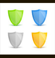 concept 3d shield protected guard gradient set vector image