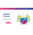 concept on creative process theme vector image vector image