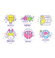 creative brain original logo design templates vector image vector image