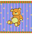 cute little teddy bear vector image