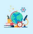education internet studying vector image vector image