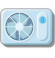 electric fan air conditioning for home climate vector image vector image