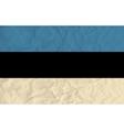 Estonia paper flag vector image vector image