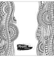 Ethnic floral zentangle doodle background pattern vector image vector image