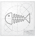 fishbone vector image vector image