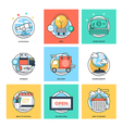 Flat Color Line Design Concepts Icons 29 vector image vector image