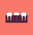 flat icon design collection teeth and gum vector image vector image