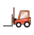 forklift sideview icon imag vector image vector image