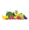 fruits vegetables berries still life vector image vector image