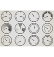 Gauge meter icons sets vector image