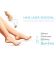 hair laser removal realistic poster vector image vector image