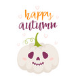 halloween card with cute pumpkin vector image