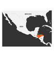 Honduras orange marked in political map of central