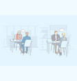 job interview service business hr set concept vector image