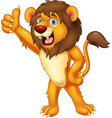 lion gives thumb up vector image vector image