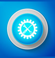 maintenance symbol screwdriver spanner cogwheel vector image