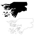 map guinea-bissau isolated vector image vector image