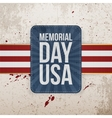 Memorial Day Usa festive Sign with Ribbon vector image vector image