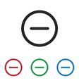 minus icon vector image vector image