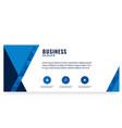 modern blue design business banner image vector image