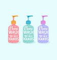 please wash your hands handwriting on soap vector image vector image