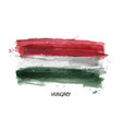 realistic watercolor painting flag of hungary vector image vector image
