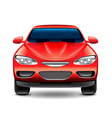 Red car front view isolated on white vector image vector image