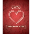 Retro styled Valentines Day card with ribbons vector image vector image