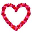 Rose Petals Frame vector image vector image