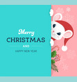 santa mouse chinese new year and merry christmas vector image vector image