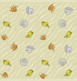 seashells on the sand seamless pattern vector image vector image