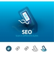 SEO - search engine optimization icon in different vector image vector image