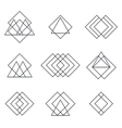 Set of geometric shapes triangles lines for your vector image vector image