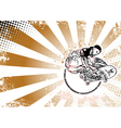 skateboarderding poster vector image vector image