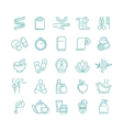 Spa and Beauty line icons set vector image vector image