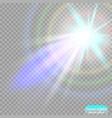 spotlight light effect searchlight vector image vector image