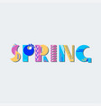 spring geometric lettering poster vector image vector image