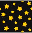 stars seamless pattern on black background vector image