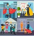 superhero orthogonal concept vector image