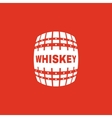 The whiskey icon Cask and keg alcohol whiskey vector image vector image