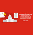 usa independence day banner horizontal concept vector image