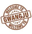 welcome to gwangju brown round vintage stamp vector image vector image