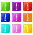wine bottle set 9 vector image vector image