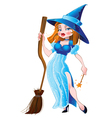 Witch in blue dress