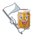 with flag almond butter isolated in the mascot vector image