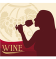 Woman with wine glass vector | Price: 1 Credit (USD $1)