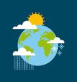 world globe climate winter summer rain season vector image vector image