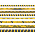 yellow danger tape flat set vector image