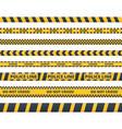 yellow danger tape flat set vector image