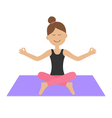 Young girl do yoga Cute cartoon woman character vector image vector image